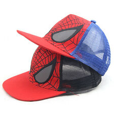 Kids Boys Toddlers Spiderman Sports Baseball Cap Adjustable Hat Snapback Costume