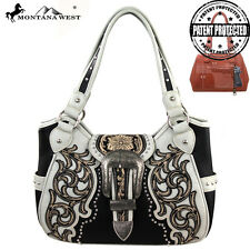 Montana West MW137G-8110 Buckle Concealed Carry Handbag