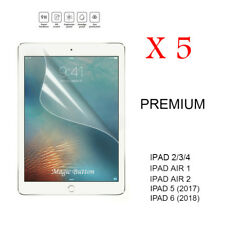 5X Ultra Clear LCD Film Screen Protector for Apple iPad 2 3 4/iPad Air 1 2