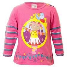 In The Night Garden Baby Girls Upsy Daisy Long Sleeved Layered Top Pink Stripe