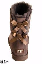 UGG WOMEN'S BAILEY BOW SUEDE/SHEEPSKIN CHOCOLATE BOOTS  SIZE US 8 9 NEW WITH BOX