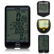 Waterproof Bike Bicycle LCD Cycling Computer Odometer Speedometer