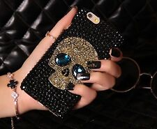Crystal Skull Skeleton Bead Bone Hard Phone Case Cover For iPhone 5S/6/6S/S6/S7