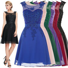 Short Chiffon Masquerade Formal Gown Ball Party Cocktail Evening Prom Dress