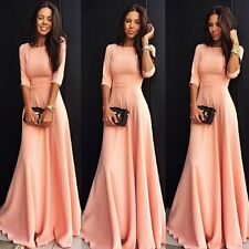 Long Sexy Bridesmaid Gown Prom Evening Formal Party Cocktail Clubwear Dress