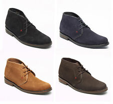Lucini Mens Suede Lace Up Chukka Boots in 4 Colours