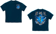 EMS EMT Emergency Medical Services On Call for Life Blue Star of Life T-Shirt