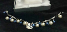 WEDDING PEARL CHARM BRACELET IVORY & ANY COLOUR, GIFT BOX INC WEDDING JEWELLERY