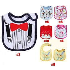 Baby Boy Girls Newborn Bibs Waterproof Saliva Towel Burp Cloth Feeding Babadores