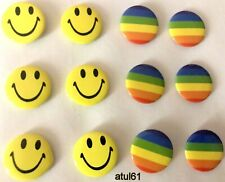 Smile Smiley Face Pin,Button,Badge Badges,Logo 6pc SMALL PARTY BAG GIFT NEW
