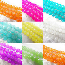 20Pcs/50Pcs Czech Glass Crackle Round Spacer Craft Art Loose Beads Finding 8MM