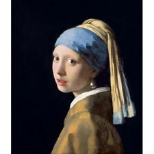 1655 Johannes Vermeer Girl With A Pearl Earring Dutch Realism Painting Poster
