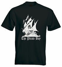 The Pirate Bay T-shirt - Torrent Ship Mens/Unisex Quality 100% All Cotton Tee