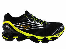 NEW MENS MIZUNO WAVE PROPHECY 5 RUNNING SHOES TRAINERS BLACK / SAFETY YELLOW / S