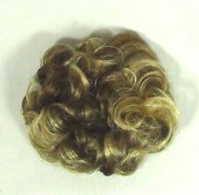 "CURLY HAIR SCRUNCHIE PONYTAIL HOLDER HAIRPIECE 3"" WAVY EXTENSIONS HUMAN HAIR"