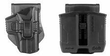 Glock 17 18 19 22 23 25 31 32 34 35 37 38 OWB Polymer Holster & Double Mag Pouch