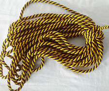 10MM PolyPropylene Braided Rope Camping Boat CLIMBING TRAPAULINES YELLOW + BLACK