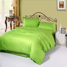 Green Duvet/Doona/Quilt Cover Set Single/Double/Queen/King Bed Fitted Sheet Set