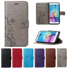Luxury Flip Leather Wallet Card Case Slot Cover For Samsung Galaxy S4 S5 S6 Edge