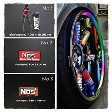 NOS Nitrous Oxide Iron Sew On Patch Embroidered Systems Energy Drink Racing Logo