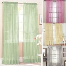 Vogue Door Window Balcony Curtain Drape Panel Scarf Sheer Tulle Voile Valances