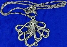 Kraken Octopus Necklace or Keychain Maritime Nautical Chain Style Length Choice