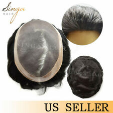 new human hair toupee for men durable mono base hairpieces in stock breathable