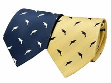 COLORATA tie necktie Dolphin silhouette Silk from Japan New Choose Color