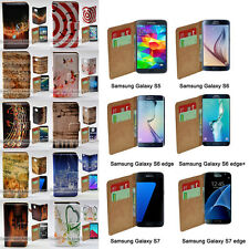 For Samsung Galaxy S6 edge+ S5 S7 S6 S7 edge Music Note Wallet Phone Case Cover