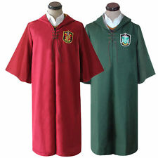 Harry Potter Adult Robe Cloak Gryffindor Slytherin Quidditch cosplay costume cos