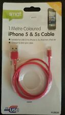 USB DATA SYNC OR CHARGER CABLE LEAD FOR IPHONES 5,5C,5S, 6, 6+, IPODS AND IPADS