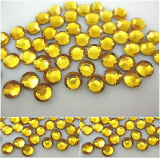 Christmas gold flat back diamante rhinestone gems - cards/scrapbooking/nail art