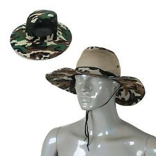 Outdoor Camouflage Military Sun Fishing Wide Brim Bucket Camping Hunting Hat Cap
