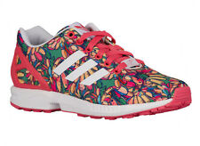 NEW WOMENS ADIDAS ORIGINALS ZX FLUX RUNNING SHOES TRAINERS SUPER BLUSH / WHITE