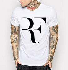 Men's Roger Federer T-shirt RF Tennis Fashion White Tee Shirt M L XL 2XL 3XL