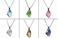 GALACTIC CRYSTAL STERLING SILVER NECKLACE PENDANT, made with SWAROVSKI ELEMENTS