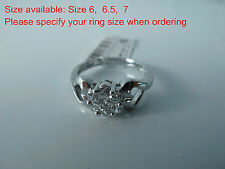 925 Sterling silver size 6, 6.5,  7 Ring AAAAA grade CZ stones, Postage Free SET