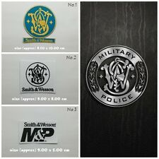 Smith & Wesson Patch Sew Iron On Embroidered Badge Firearms Gun Hunters Weapons