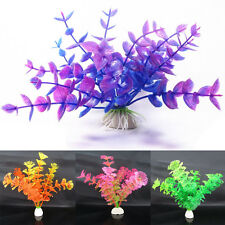 New Vivid Artificial Plastic Grass Plants Aquarium Ornament Fish Tank Decoration