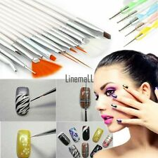 20pcs Nail Art Design Set Dotting Painting Drawing Polish Brush Pen Tools LM