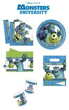 Disney Monsters University Birthday Party Decoration Tableware Plates Cups