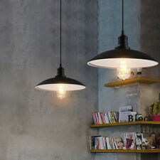 Modern Vintage Retro Black Metal Iron Pendant Lamp Ceiling Light Cafe Loft LED