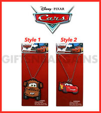 "Disney Cars Lightning McQueen Mater 16"" Dogtag Chain Necklace Boys Party Favours"