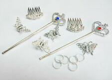 14 pcs PRINCESS TIARA WAND dressup girls costume pretend Birthday Party Favors