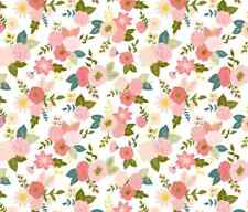 Home Decor Pink Floral Spoonflower sew fabric by the yard in a variety of cotton