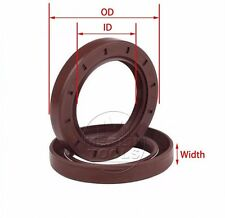 Select Size ID 35 - 38mm TC Double Lip Viton Oil Shaft Seal with Spring