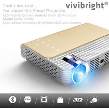 Smart 3D Projector Bluetooth WIFI Android 4.44 1280x800 2.4GHZ/5GHZ Dual Band