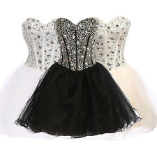 Luxury Bead Short Mini Ball Cocktal Party Dress Evening Formal Prom Wedding Gown