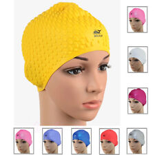Flexible Silicone Sports Swimming Swim Showe Cap Bathing Hat Adult Women Ladies