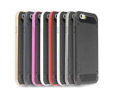 Hybrid Slim Armor Bumper Hard Protective Case Cover For iPhone 5 5S SE 6 6 Plus